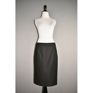 VINCE Black Wool Blend Knee Length Pencil Skirt
